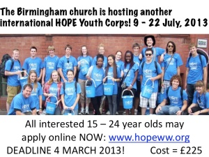 HOPE Youth Corp 2013