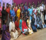 Some of the people baptised in the Chennai church in 2012