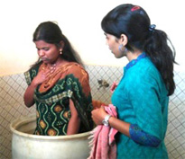 Priyanka is baptised into Christ
